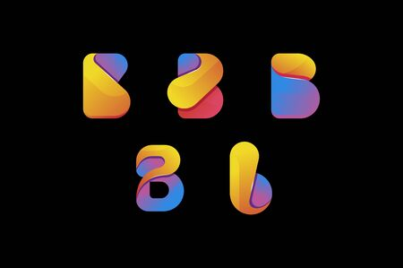 creative colorful letter b  set