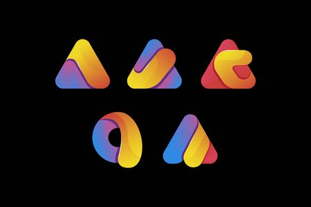 creative colorful letter a  set