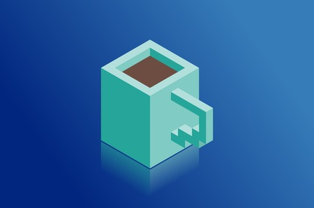 Coffee cup isometric vector illustration
