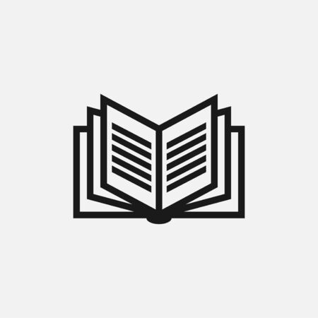vector illustration of book. perfect for logo or icon education, publishing or magazine industry. simple flat color style
