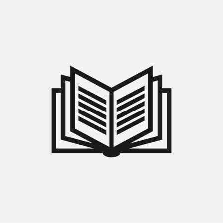 illustration vectorielle du livre. parfait pour l'éducation des logos ou des icônes, l'édition ou l'industrie du magazine. style de couleur plat simple