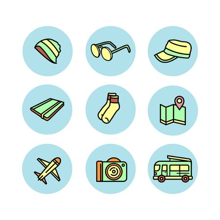 vector icon illustration for travel. perfect for travel business. flat color style