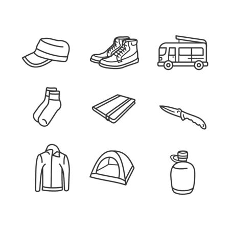 vector icon illustration for travel. perfect for travel business. flat line art style