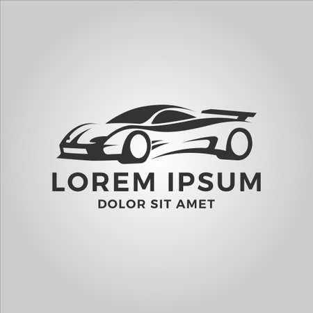 car vector logo. fit for automotive, repair, transportation, or car shop logo. flat color style