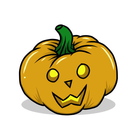 halloween pumpkins vector illustration. scary symbol for halloween tradition. vector hand drawn style Vetores