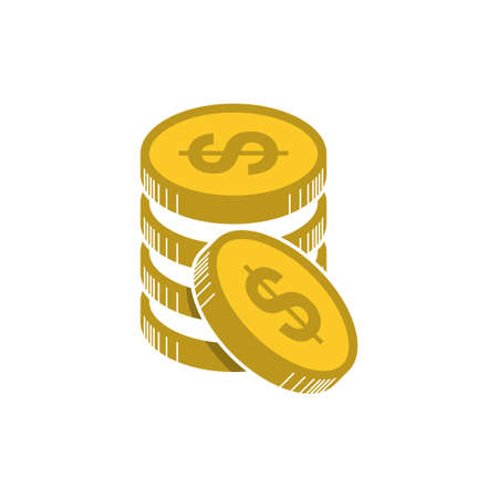 money vector icon, bank or financial symbol, design flat illustration money, wealth, investment and finance concept