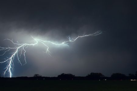 lightning in the night Stock Photo - 1833179