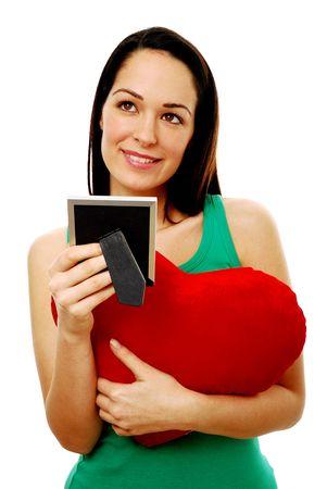 Woman deeply in love Standard-Bild