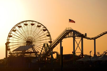 Santa Monica pier Los Angeles Stock Photo