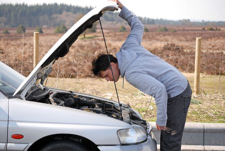 Engine Trouble Standard-Bild