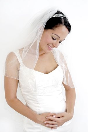 A bride who is expecting a baby Standard-Bild