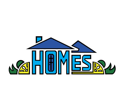 word logo of homes design Vector