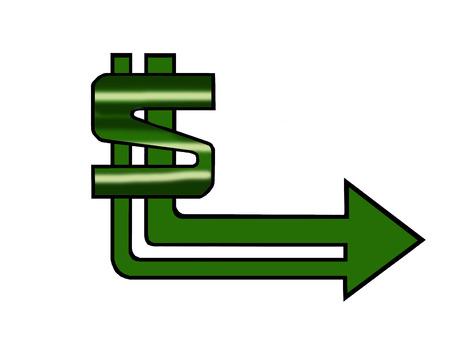 Fallow the money sign or logo Vector