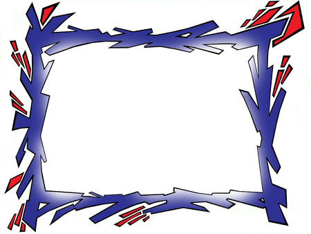 funky rigid and shredded picture frame  Vector