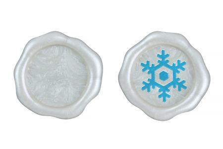 Sealing wax of a snowy crystal
