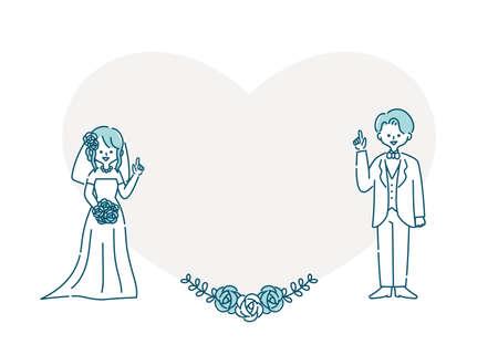 Wedding Heart Frame