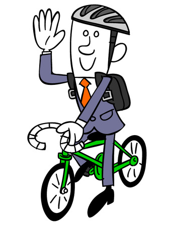 Business man of bicycle commuting Vector