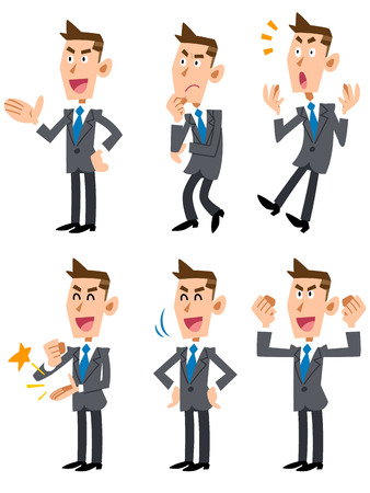 man in air: Businessman confused Illustration