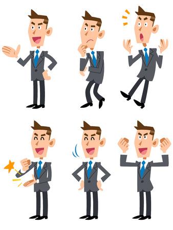 hombre caricatura: Empresario confundido