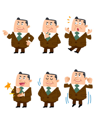 assent: Businessman confused Illustration