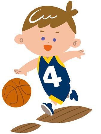 substitute: Boys play basketball Illustration