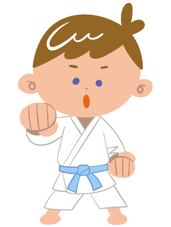 midwinter: Karate boy Illustration
