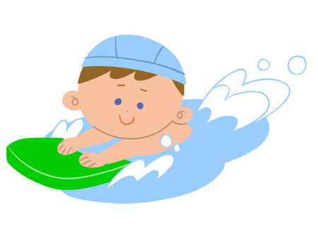Boy swim Vector