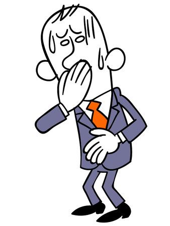 poisoning: Businessman nauseating