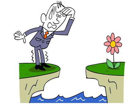 intimidated: Businessman intimidated Illustration