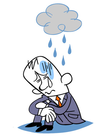 ennui: Business man depressed Illustration