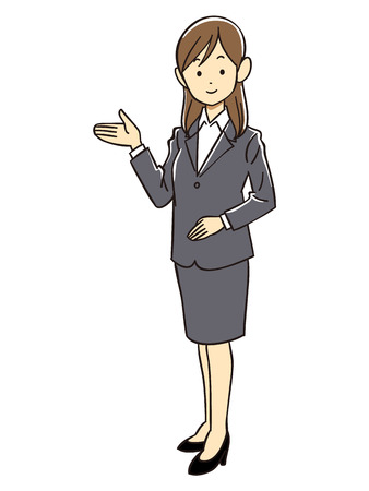 Office lady introducing Vector