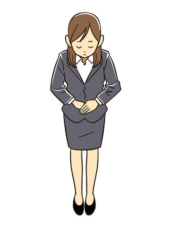 lowering: Office lady to bow Illustration