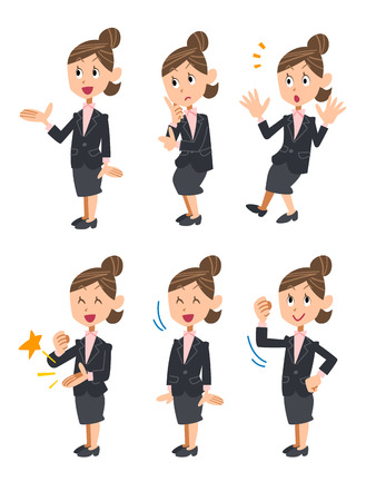 assent: Businesswoman confused Illustration