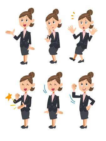 assentiment: Femme d'affaires confus Illustration