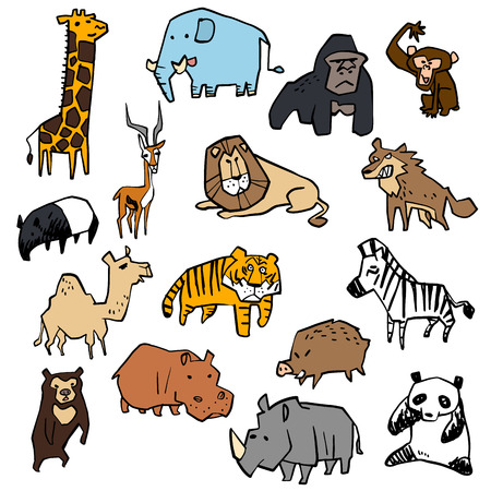 Illustration of a variety of animal Vector