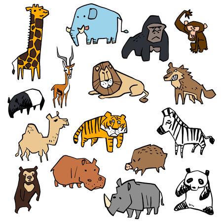 gazelle: Illustration of a variety of animal