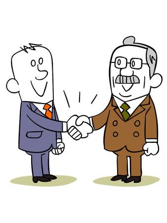 ビジネス人々 手を振る  イラスト・ベクター素材