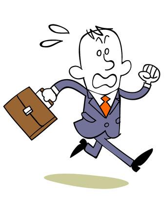llegar tarde: Hombre de negocios que probable que sea tarde