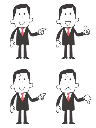 pointing up: Businessman four