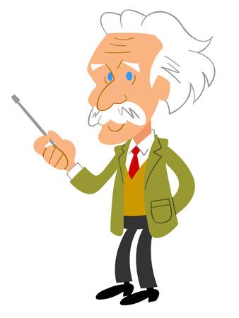 gray hair: University Professor of gray hair