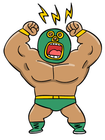 muscle cell: Professional wrestler you wearing a mask