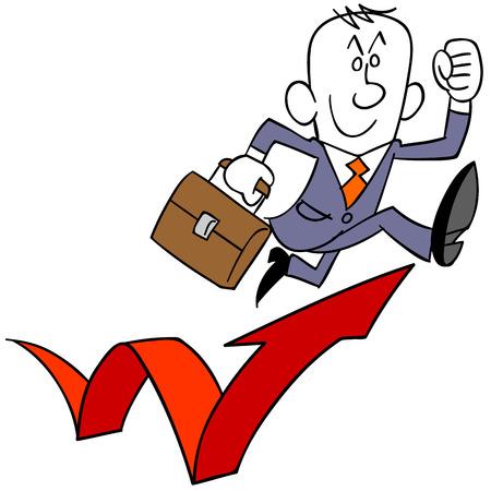 businessman jumping: Businessman to Triple Jump