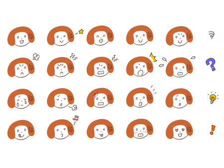 20 kinds of expression of women Vector