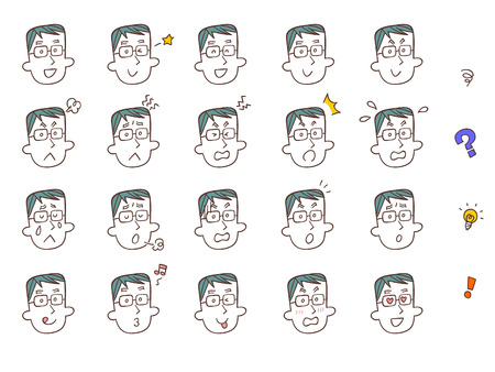 20 kinds of expression of male