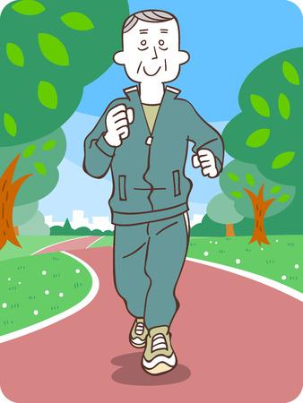 older men: Older men to jogging