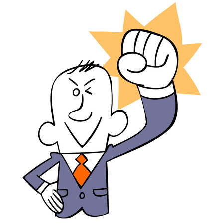 current affairs: Businessman Victory pose
