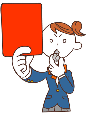 satirical: Schoolgirls to issue a red card