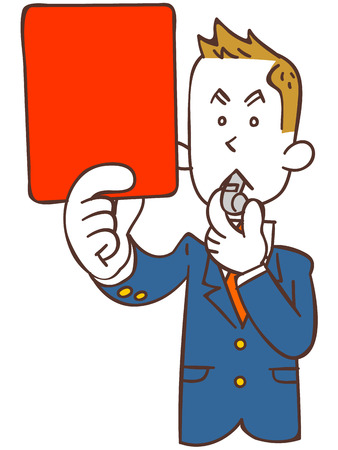 Male students to issue a red card Vector