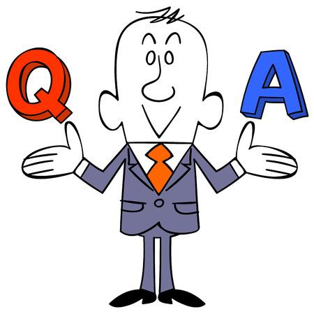 ビジネスマン質問に気づいた  イラスト・ベクター素材
