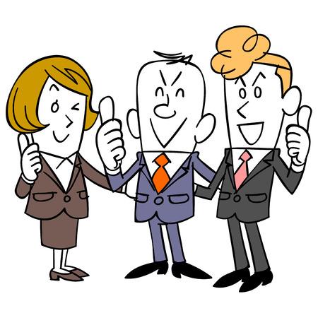 ap: Businessman to Sam up and formed a shoulder Illustration